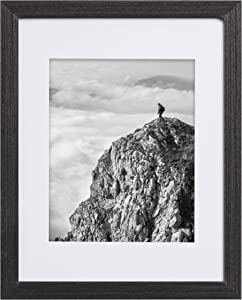 16x20 Frame Rustic Black - Matted to 11x14 Picture, Frames by EcoHome