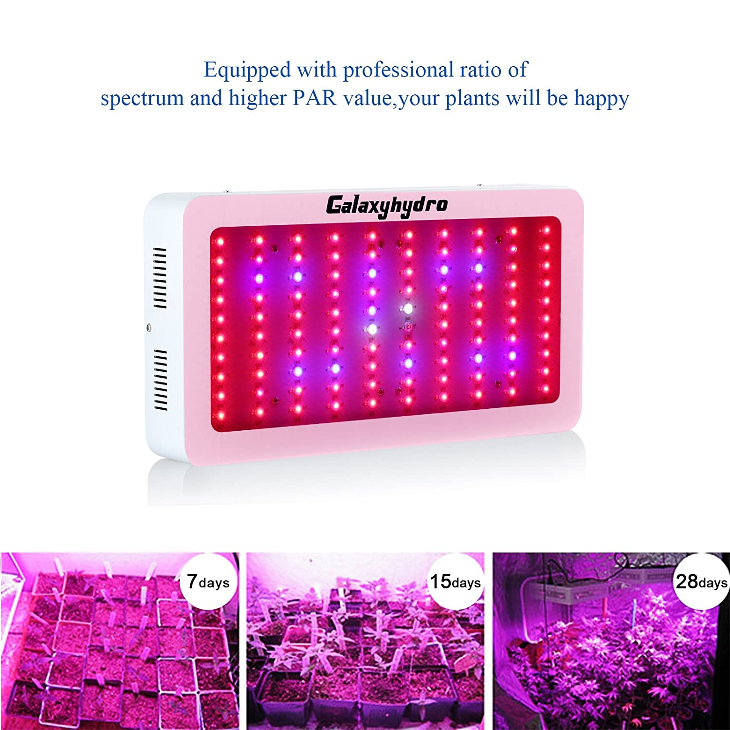 Amazon roleadro 300w led grow light galaxyhydro series full amazon roleadro 300w led grow light galaxyhydro series full spectrum grow lamp for plants veg and flower added daisy chain function and larger size parisarafo Gallery