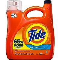Tide Liquid Laundry Detergent, Clean Breeze, 107 Loads, He Compatible 4.55 Liter (Pack of 1)