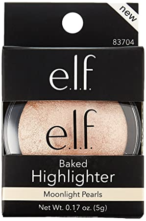 e.l.f. Baked Highlighter, Moonlight Pearl, 0.17 Ounce Pack of 4