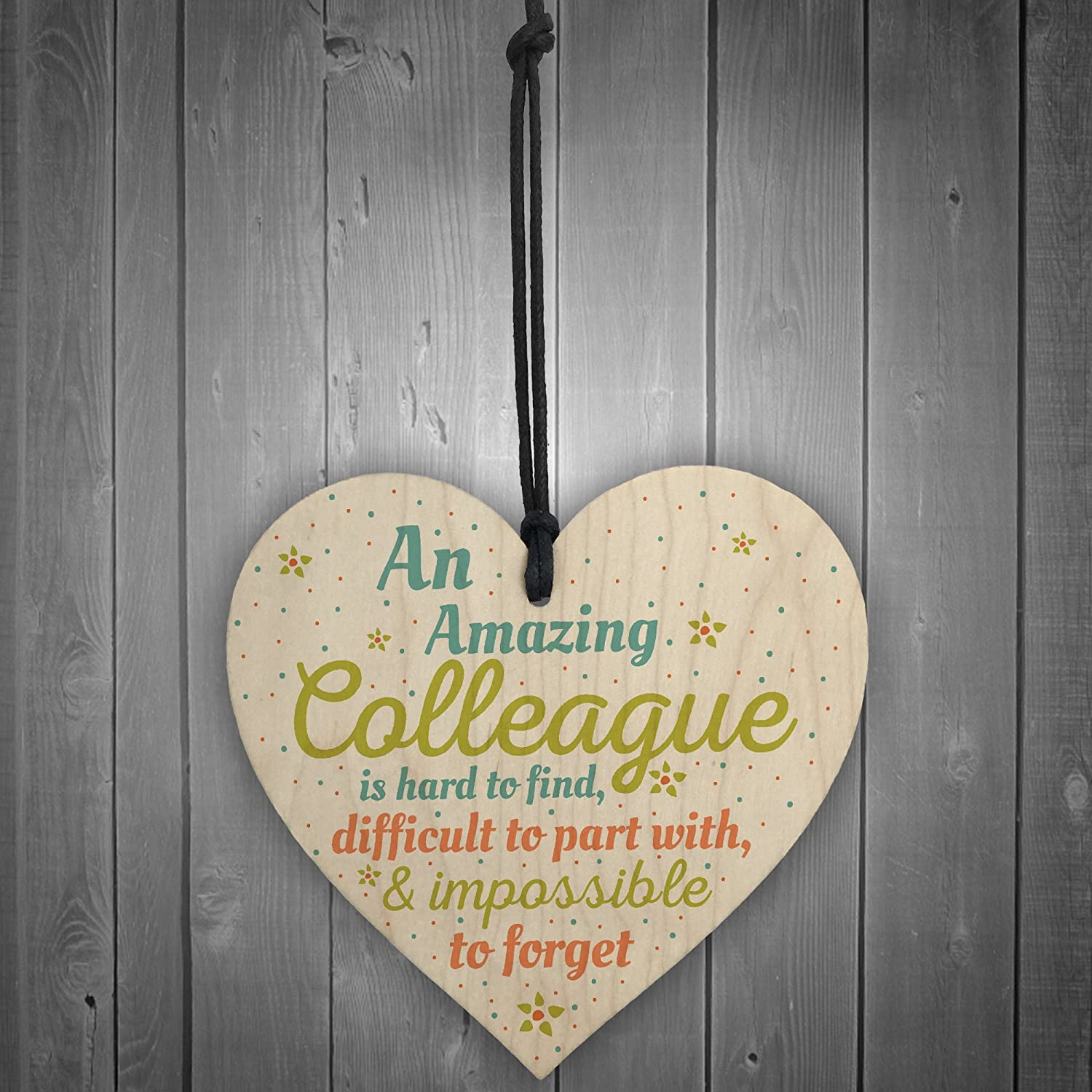 ukgiftstoreonline Special And Few Colleagues Wooden Hanging Heart Plaque Sign Friend Friendship Thank You Office Work Gift