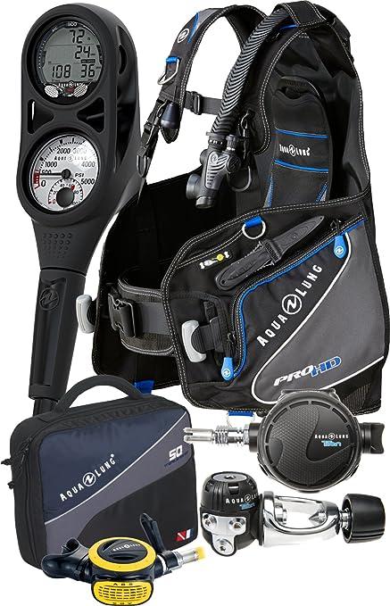 Aqua Lung Pro HD BCD i300 Dive Computer Titan / ABS Regulator Set Reg Bag  Scuba