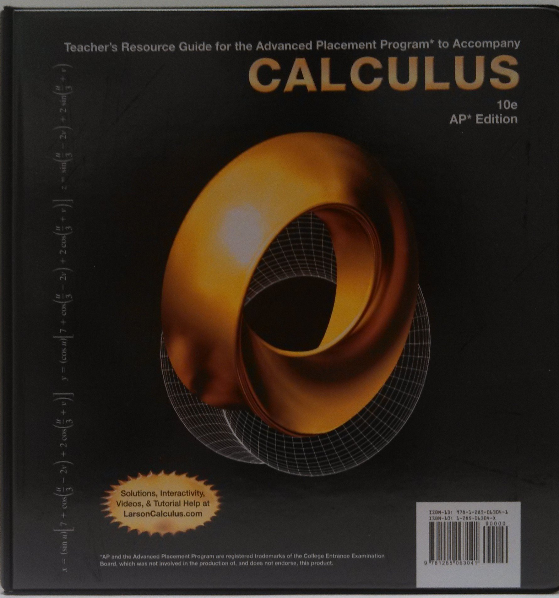 Calculus: Teacher's Resource Guide for the Advanced Placement Program by  Larson and Edwards, 10th edition, AP edition: Amazon.com: Books