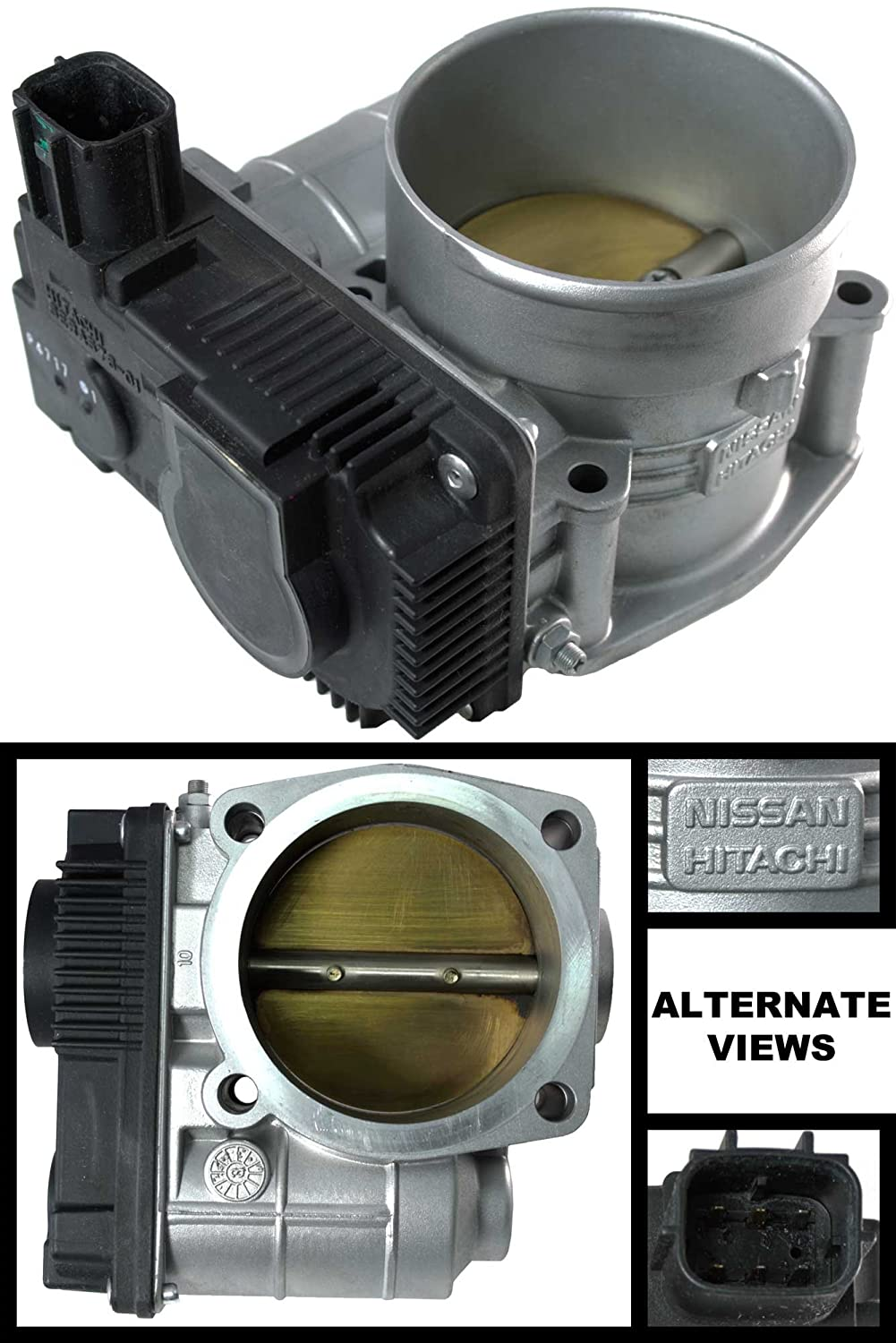 APDTY 161198J103 Electronic Throttle Body Assembly Fits 3.5L V6 Engine On 03-06 Nissan 350Z 02-06 Altima 02-08 Maxima 03-07 Murano 04-09 Quest 03-08 Infiniti FX35 03-06 G35 02-04 I35 & 06-08 M35