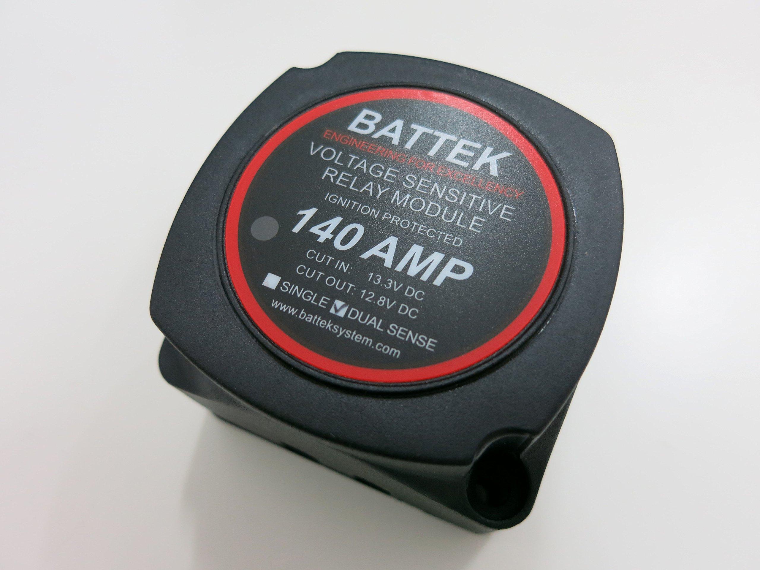 Voltage Sensitive Relay Dual Sense 12V 140A (Smart Battery Isolator) by BATTEK