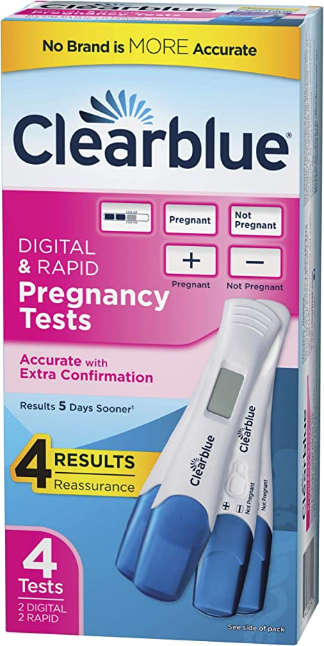 Amazon Com Clearblue Pregnancy Test Combo Pack 4ct Digital