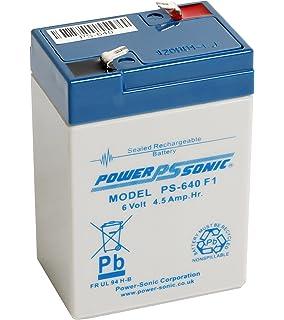 6v 4 5ah Sealed Lead Acid Rechargeable Battery: Amazon co uk
