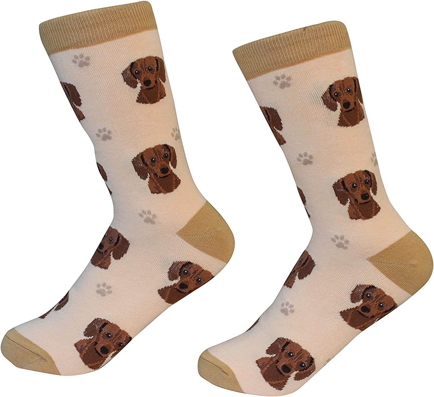 Red Dachshund Dog Breed Socks Unisex Sock Daddy by E&S Pets