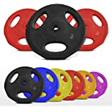 "Standard Rubber Disc Weight Plates EZ Bar Barbell Weights Plate Home Fitness 1"" 25mm Hole"