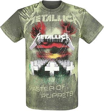 Metallica Master of Puppets James Hetfield Mop Oficial Camiseta para Hombre: Amazon.es: Ropa y accesorios