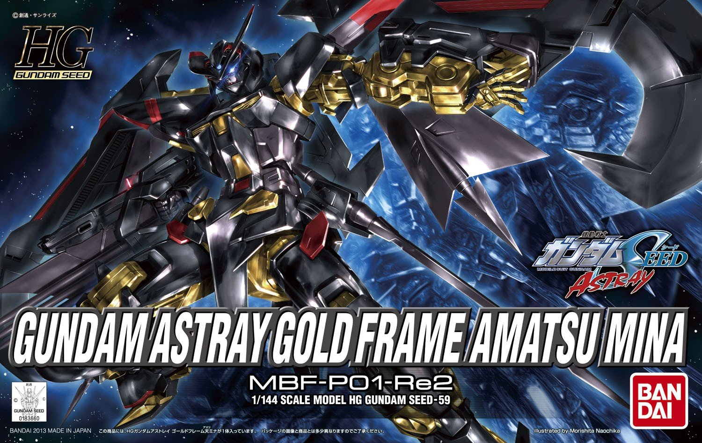 Bandai Hobby 59 HG Gundam Gold Frame Astray Amatu Mina Model Kit, 1 ...