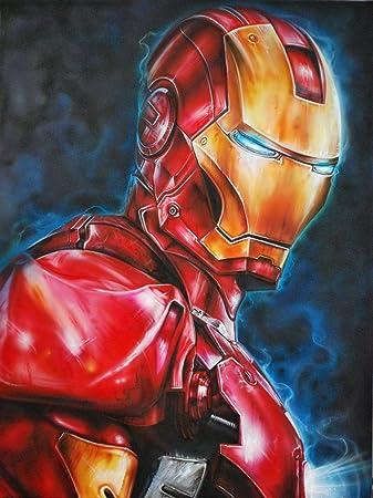 Iron Man Comic Zeichnen Acryl Untersetzer Amazon De Kuche Haushalt