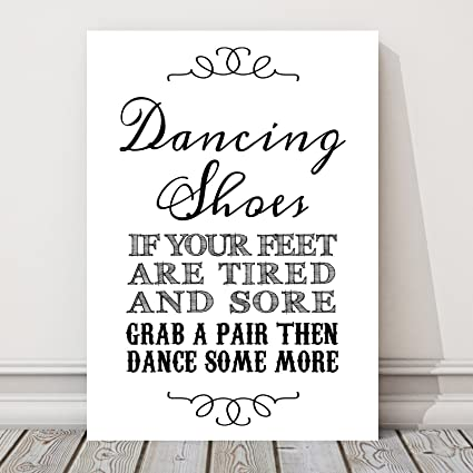 a44572782 Dancing Shoes Wedding Flip Flop Table Sign (BB) (White)  Amazon.co.uk   Kitchen   Home