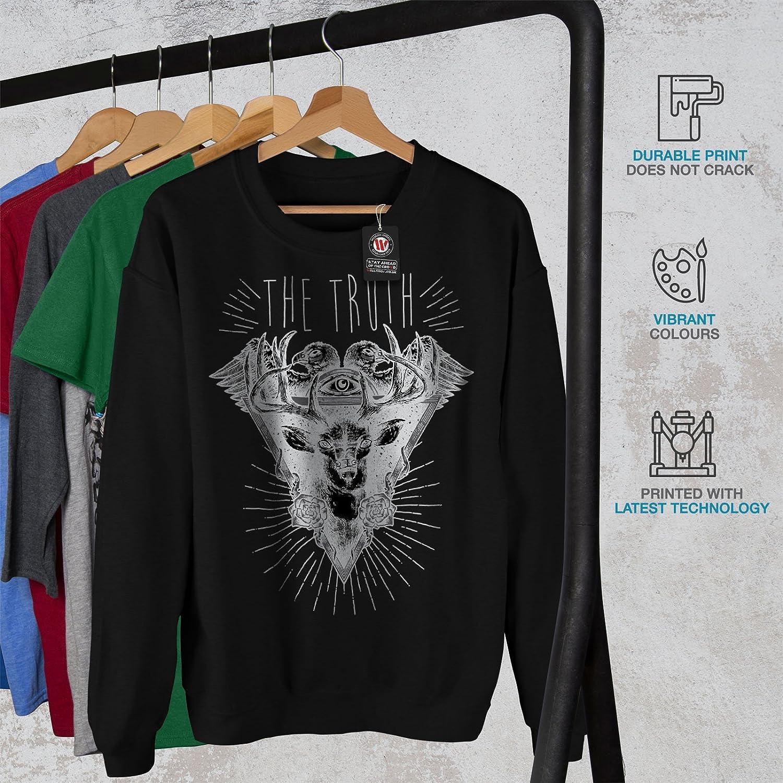 Deer Casual Jumper wellcoda Nature Triangle Mens Sweatshirt