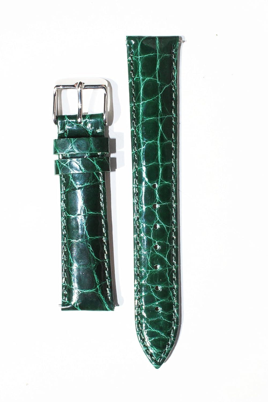 Micheleスタイル18 mm Limited Edition Forest Green Genuine Crocodile withクイックリリースピン  B00BTUM0QW
