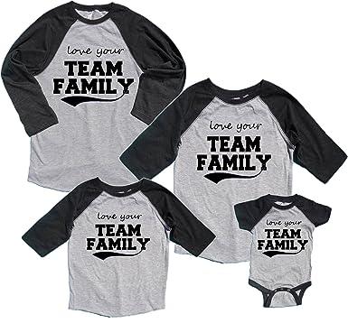 be91e352 Amazon.com: Love Your TEAM FAMILY Matching Baseball Shirts; Choose ...