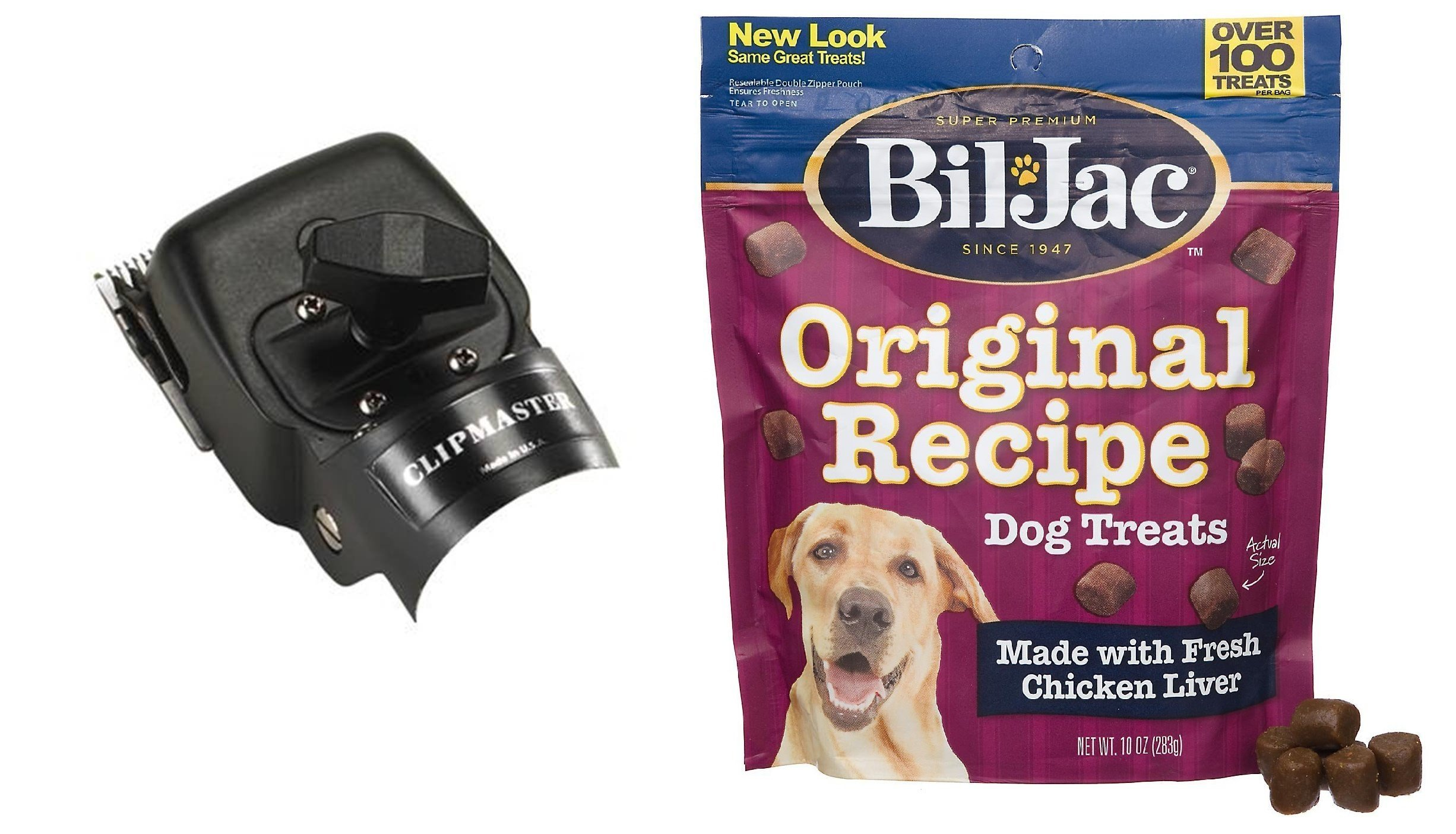 Oster Large Animal Clipper Replacement Head for Clipmaster, Showmaster and Shearmaster - Includes Bil-Jac Original Recipe Dog Treats 10oz