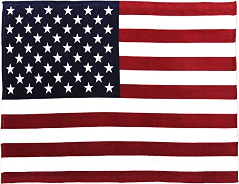 US Army 3D US Flag Fleece Blanket 50x60x80 Made In US