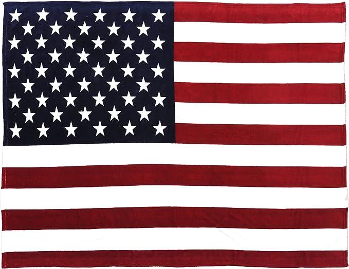 Sleeping Partners Manta de Forro Polar, diseño de Bandera de Estados Unidos, 152,4 x 203 cm, Tradicional, 60