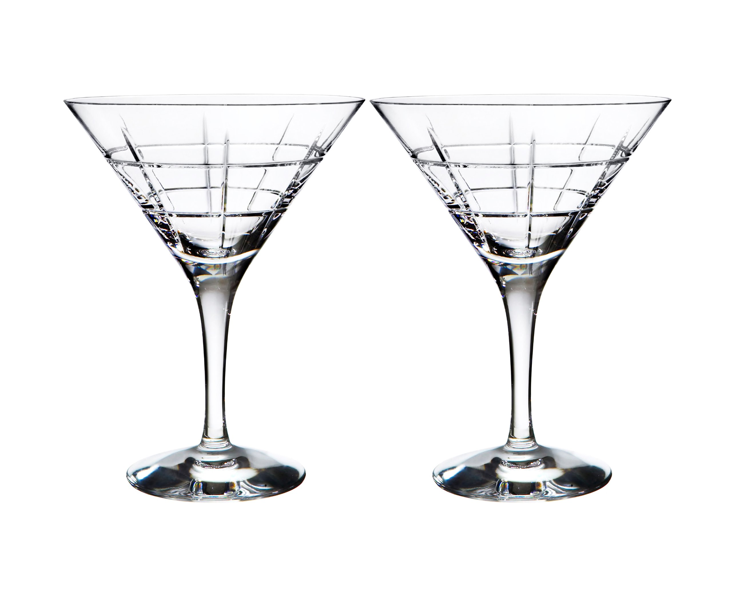 Orrefors Street Martini Glass Pair