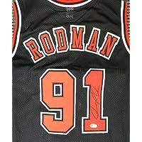$152 » Chicago Bulls Dennis Rodman Autographed Black Jersey Beckett BAS Stock #179061 - Autographed NBA Jerseys
