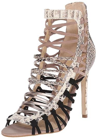07e32f9c07919a Steve Madden Women s SLEIK Dress Sandal Natural Multi 7.5 ...