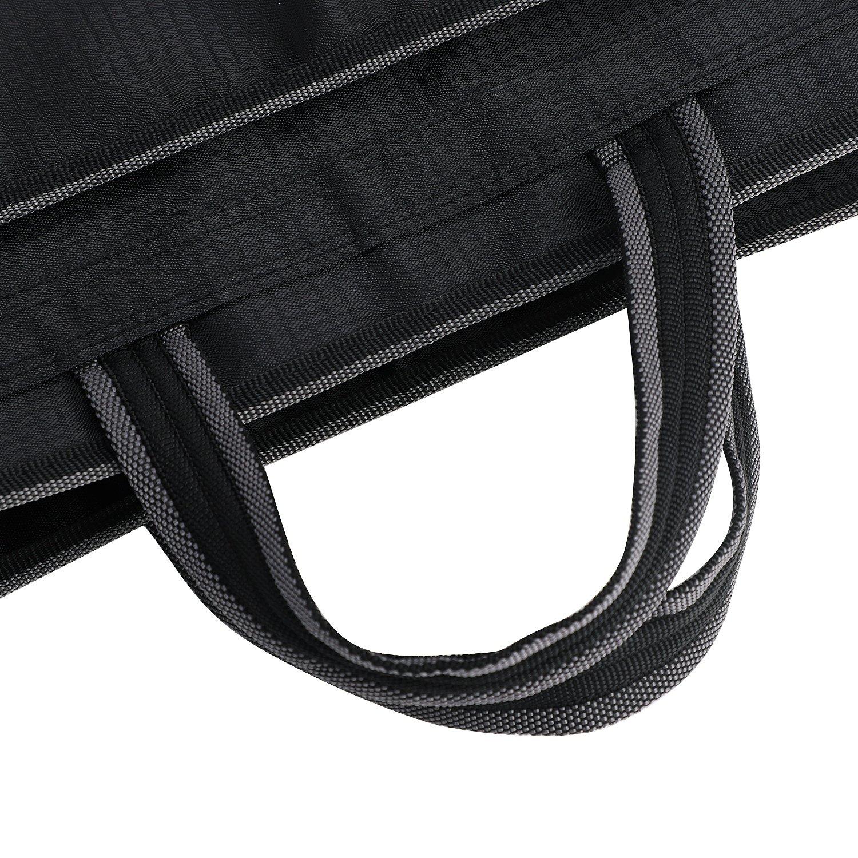 Carpeta de B4/bolso business hombre toalla de caso Commercial caja Funda de ordenador de cierre cremallera Oxford tela A cuadros extensible mochila de Document Durable, color Negro Vertical