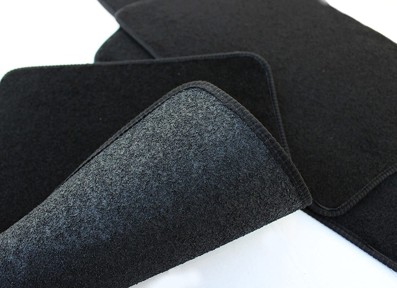 UKB4C Tailored Logo Velour Carpet Floor Mats for A6 C6 2004-2011 4PCS