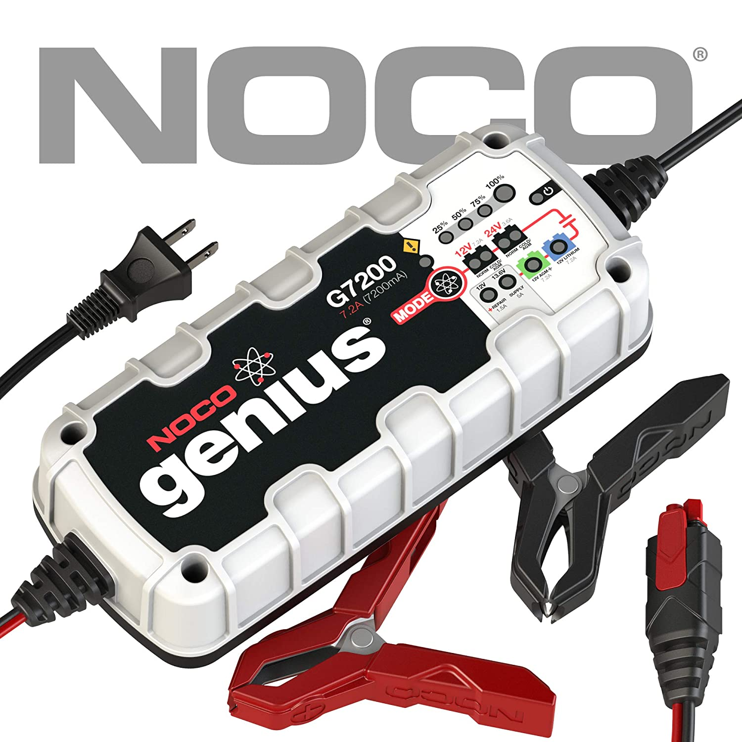 NOCO Genius G26000 12V//24V 26 Amp Pro-Series Battery Charger and Maintainer