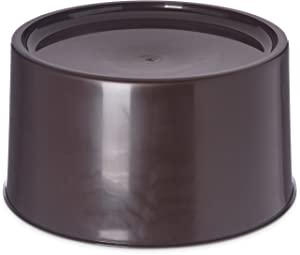 "Carlisle 221101 Round Beverage Dispenser Base, 12-3/16"" Dia. x 6-1/2"" H, Brown"