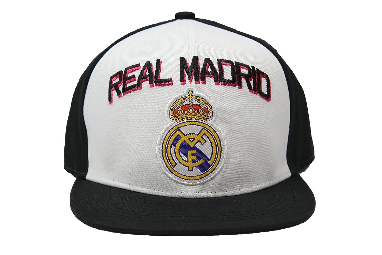 Amazon.com   Real Madrid Fc Club Snapback Adjustable CAP Hat - White-black  NEW Season   Sports   Outdoors b558c225e2c
