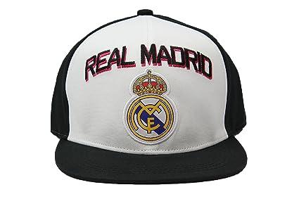 Amazon.com   Real Madrid Fc Club Snapback Adjustable CAP Hat - White ... be9e5cf51b7a2