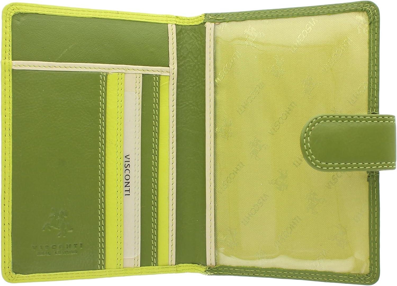 Visconti Rainbow Collection SUMBA Porte-Passeport en Cuir RFID Blocage RB75 Baie Multi