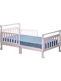 Athena Anna Sleigh Toddler Bed White