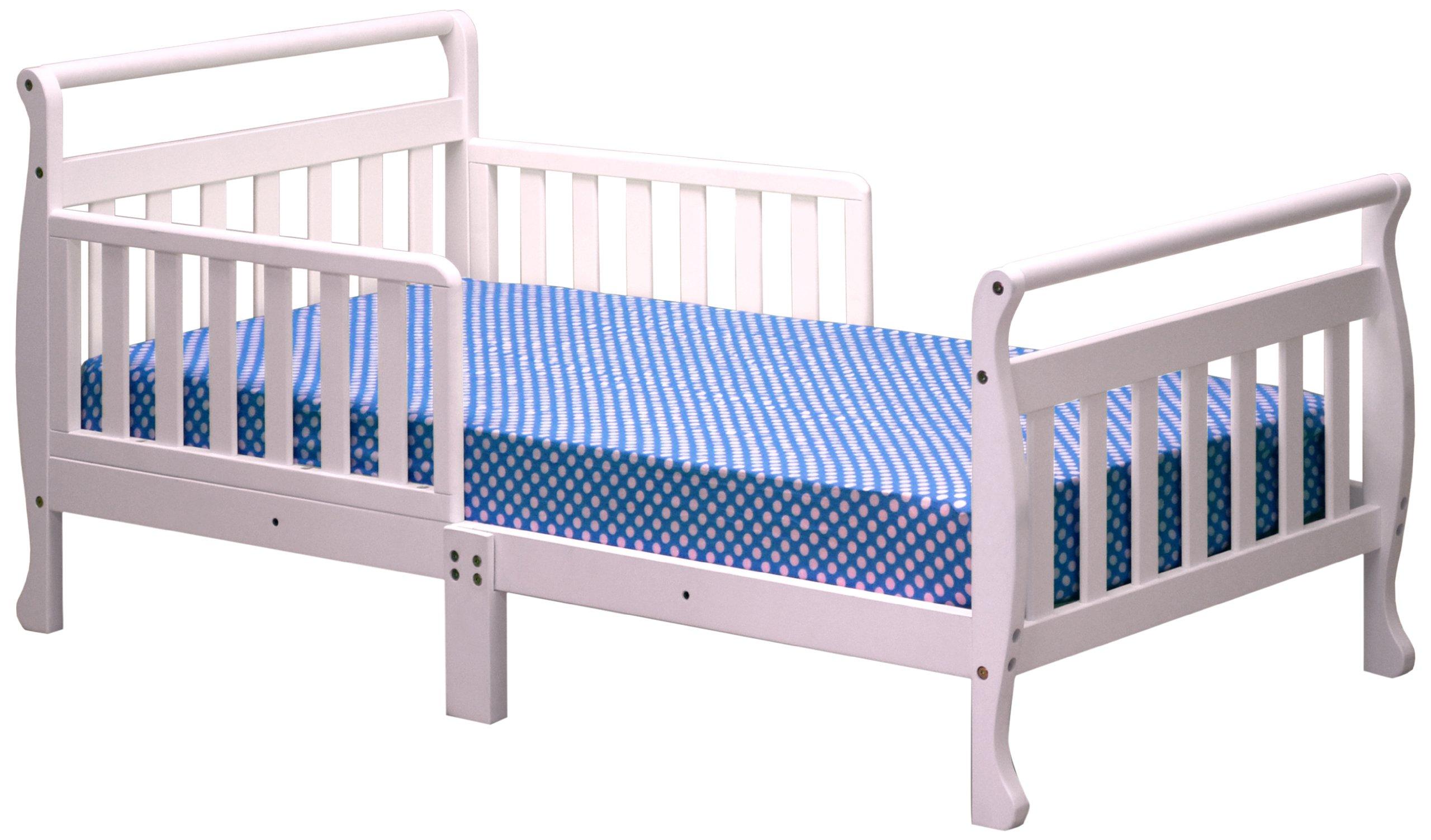 Athena Anna Sleigh Toddler Bed, White by Athena