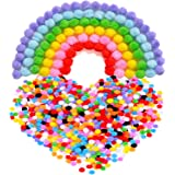 Outus Pompoms for Craft Making and Hobby Supplies, 8 mm, 1000 Pieces, Assorted Colors