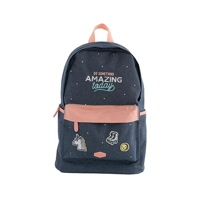 Amazon.com: Mr. Wonderful Do Something Amazing Today (ENG), Blue, Backpack Size: 46 x 26 x 13 cm: Kitchen & Dining