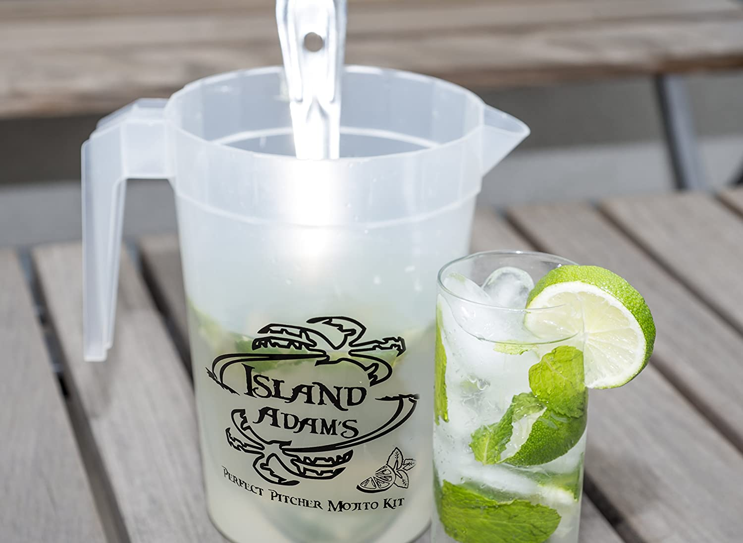 muddler measuring cup This is the bar set for fresh homemade mojitos. spoon recipe Perfect Pitcher Mojito Kit Mojito pitcher tools and recipe for a perfect pitcher of mojitos every time guide