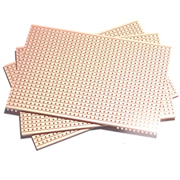 3 x copper strip prototyping veroboard 64x95mm