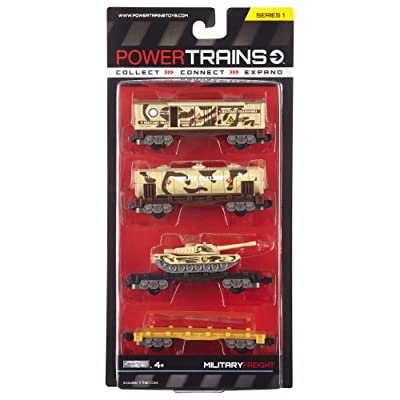 Power City Trains Freight Military 4 pack: Toys & Games