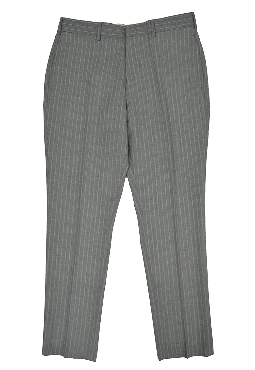 6725cd497f Brooks Brothers Red Fleece Mens Flat Front 100% Wool Dress Pants Grey  Striped at Amazon Men s Clothing store