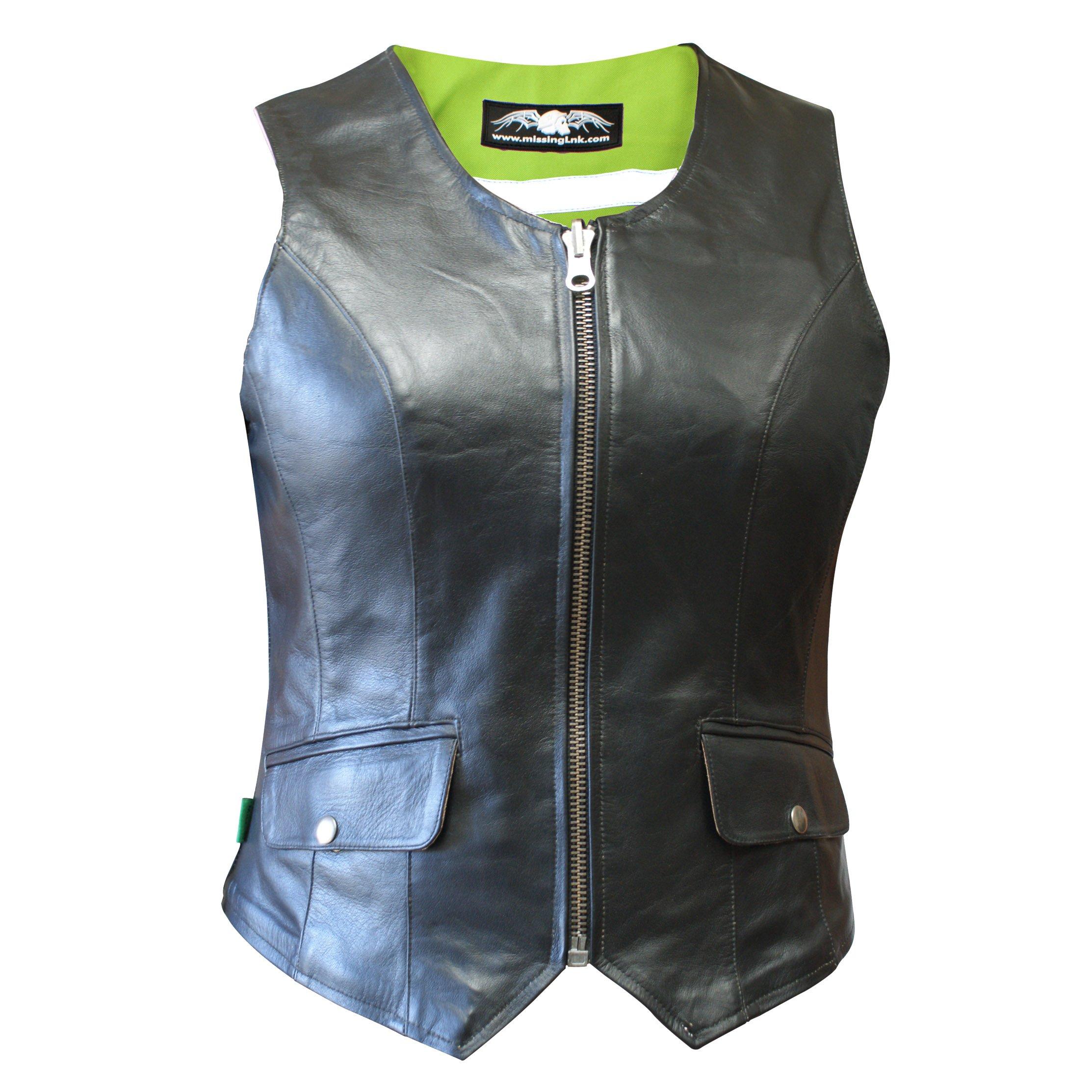 Missing Link Women's D.O.C. Reversible Vest (Black/HiViz Green, XXX-Large)