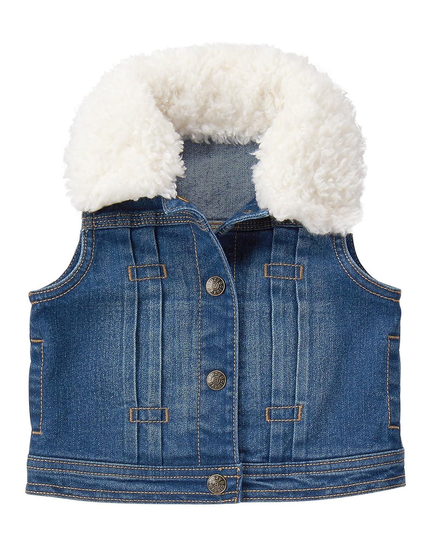 6ca2695418b76 Amazon.com  Crazy 8 Girls  Toddler Sherpa Collar Denim Vest  Clothing