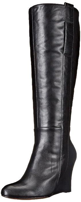25343af8d37bc Amazon.com | Nine West Women's Oran-Wide Leather Knee High Boot ...