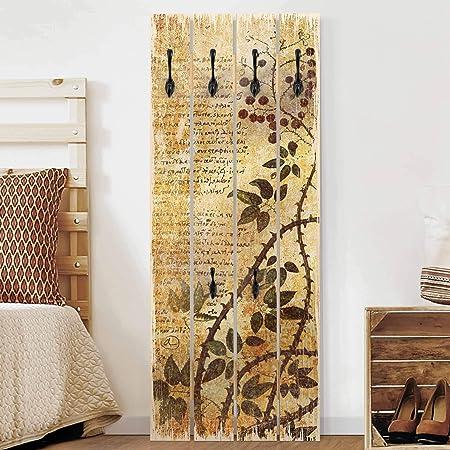 Bilderwelten Perchero de madera - Top 8 Wall Coat Rack ...