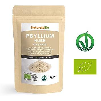 Cáscara de Psyllium Ecológico [99% Pureza] 200g. Psyllium Husk ...
