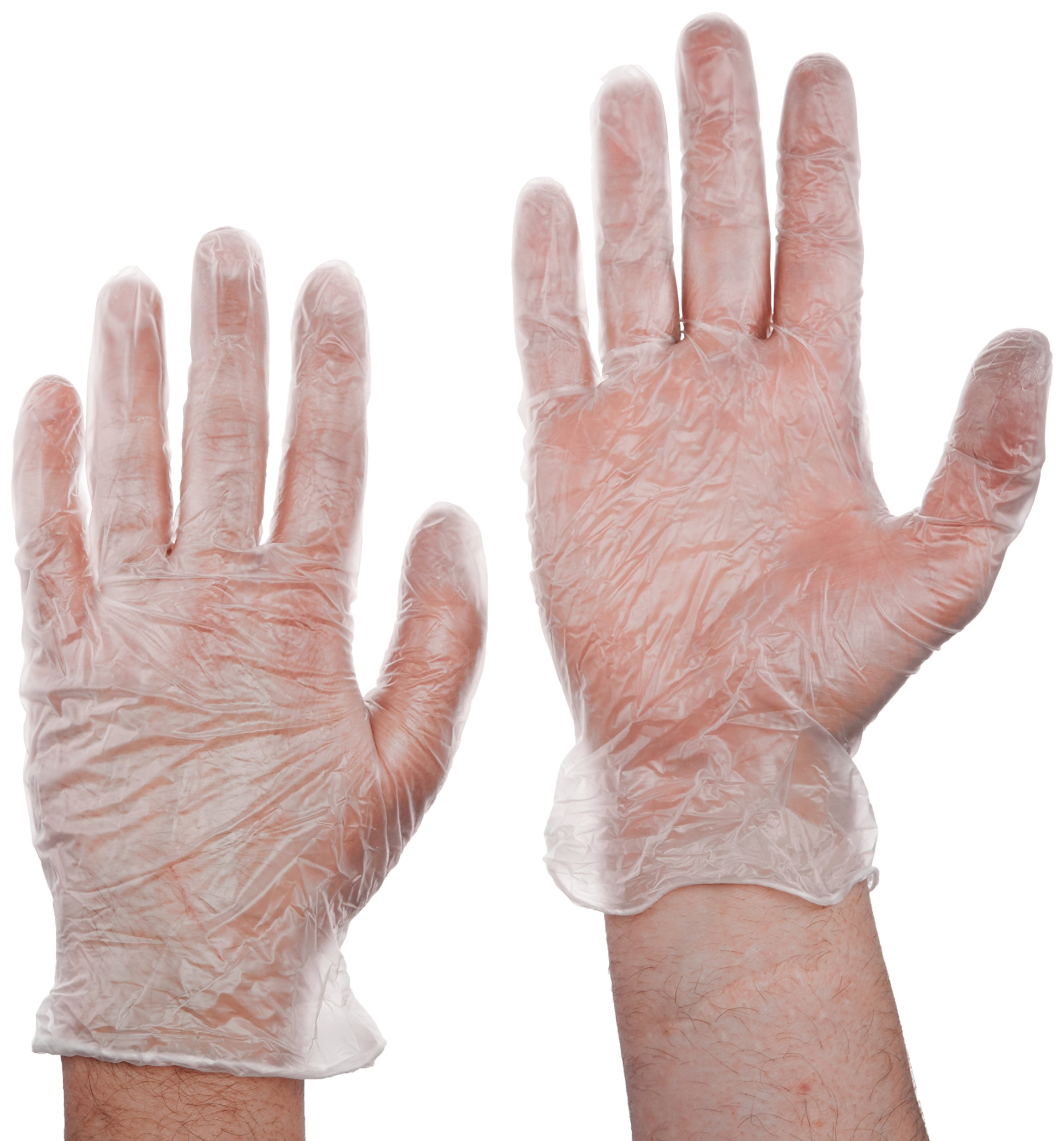 Tradex VLG5101 Ambitex Vinyl Powdered Multi-Purpose Gloves, Large, Clear (Pack of 1000)