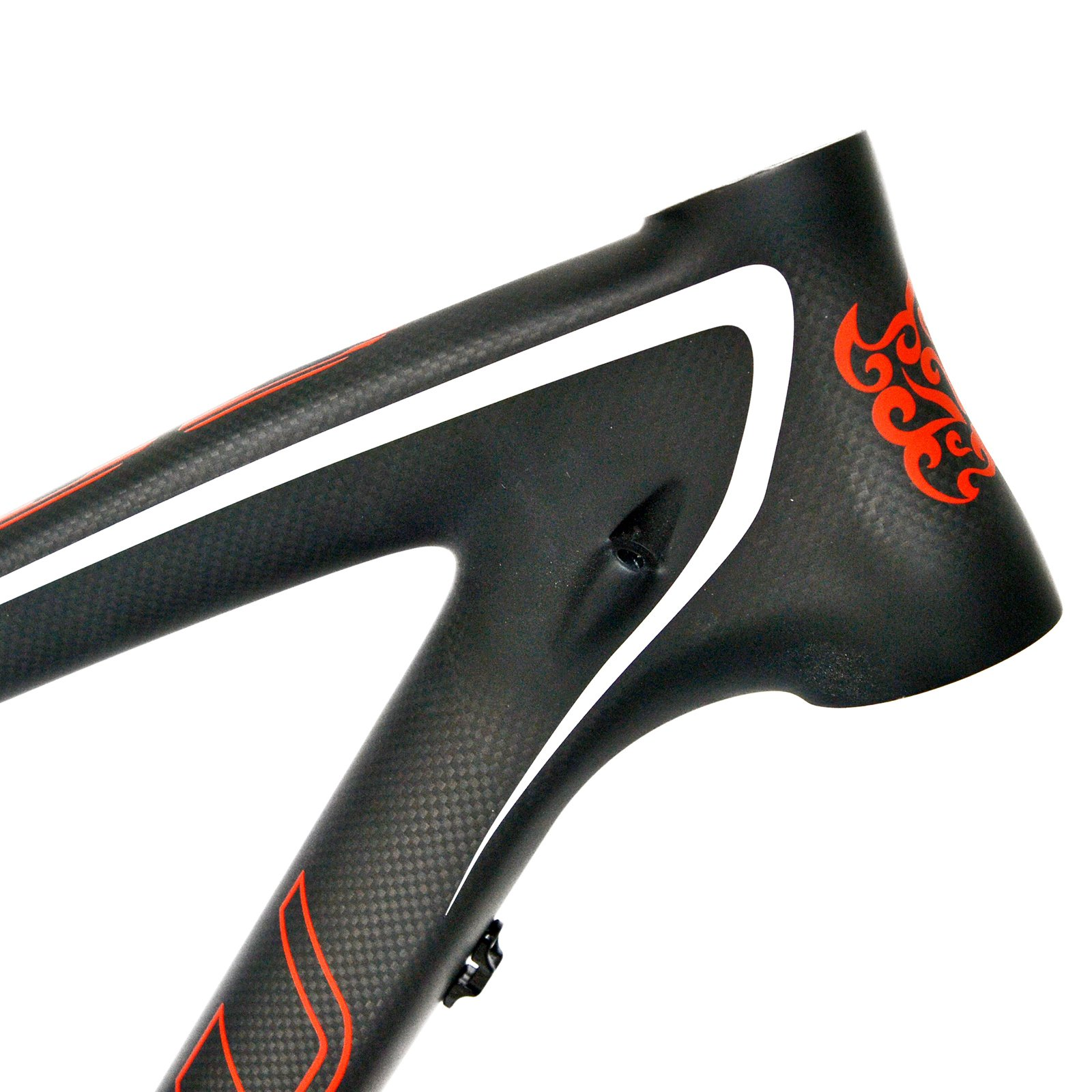 BEIOU 17-Inch 3k Carbon Fiber Mountain Bike Frame 27.5-Inch Matte Black Unibody Internal Cable Routing T800 Ultralight MTB B020A17Y by BEIOU (Image #2)