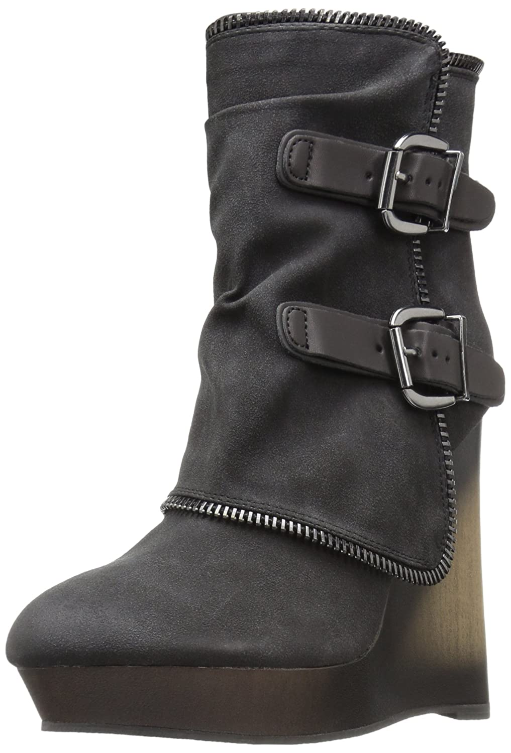 Not Rated Women's Gemini Ankle Bootie B01F6C2ZCW 7 B(M) US|Black