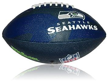 Wilson Football NFL Junior Seattle Seahawks Logo - Balón de fútbol americano (infantil, caucho), color, talla 5: Amazon.es: Deportes y aire libre